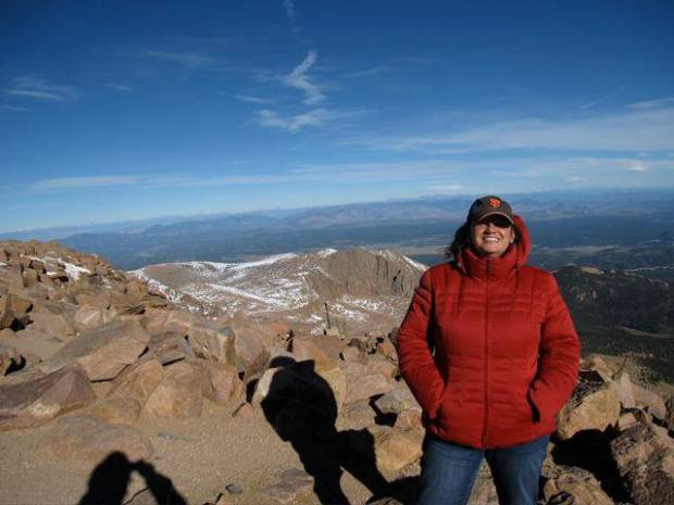 atop pikes peak