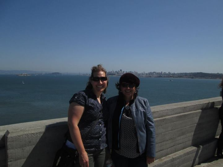 me and Rebecca on SF bridge